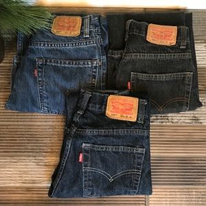 Levis 550 Red Tag Jeans Relaxed Denim Sz 12 Slim